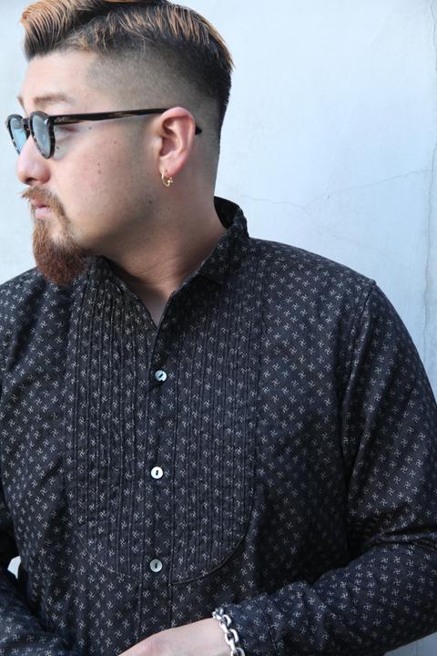 BLACK SIGN/ブラックサイン 「Nohocos Wing Coller Delta Shirts」  ウィングカラーシャツ
