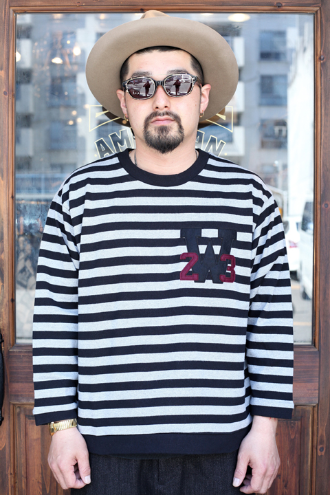WEIRDO/ウィアード   「RINGING CLOWN -  L/S CREW NECK」   ボーダーカットソー
