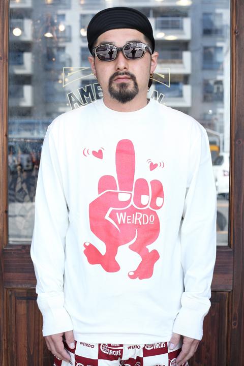 WEIRDO/ウィアード   「FUCK U -  L/S  T-SHIRTS」   L/S ティーシャツ