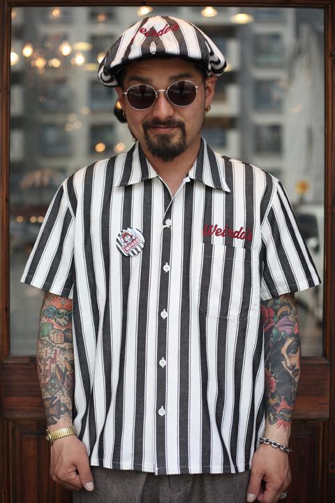 WEIRDO/ウィアード   「WINDY'S - S/S SHIRTS」  ストライプシャツ