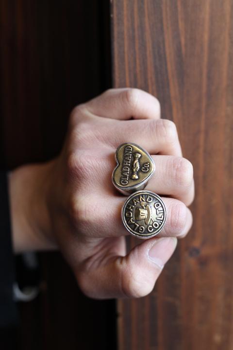 GLAD HAND/グラッドハンド  「BUTTON RING - LARGE」  シルバーリング