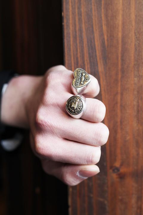 GLAD HAND/グラッドハンド  「BUTTON RING - SMALL」  シルバーリング