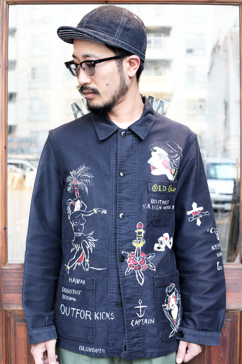 BLOWOUT!! × AMERICAN WANNABE  「HAND PAINT Coverall 」  ハンドペイントカバーオール