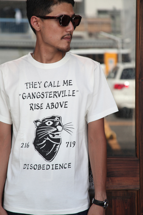 GANGSTERVILLE/ギャングスタービル  「RISE ABOVE - S/S T-SHRITS」  S/S TEE