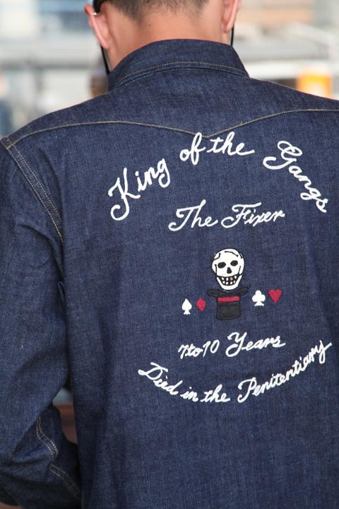GANGSTERVILLE/ギャングスタービル   「THE FIXER  - L/S SHIRTS」  デニムウエスタンシャツ