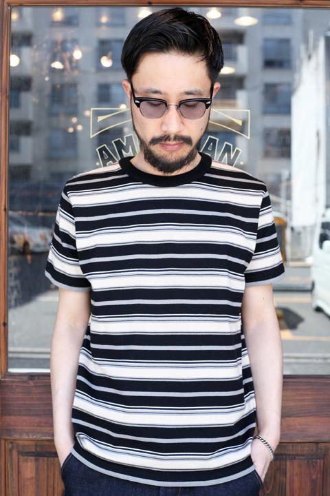 TROPHY CLOTHING/トロフィークロージング  「Jacquard Multi Border S/S Tee」 ボーダーTシャツ