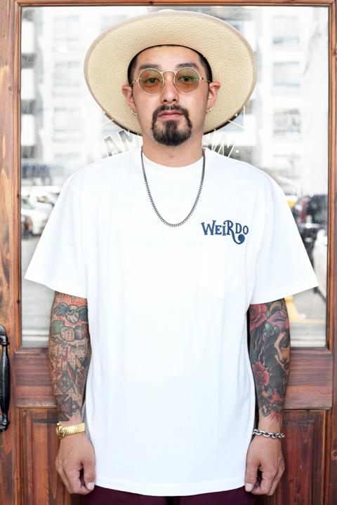 WEIRDO/ウィアード  「CRAZY SIGN - S/S T-SHIRTS」  クルーネックティーシャツ
