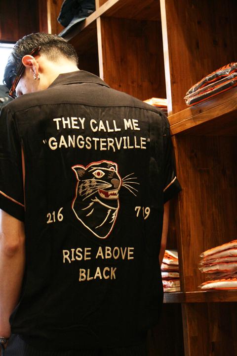 GANGSTERVILLE/ギャングスタービル   「RISE ABOVE - BOWLING SHIRTS」 レーヨンツイルシャツ