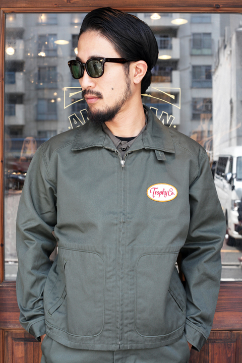 TROPHY CLOTHING/トロフィークロージング   「Gas Worker Jacket」  ジップアップドリズラージャケット