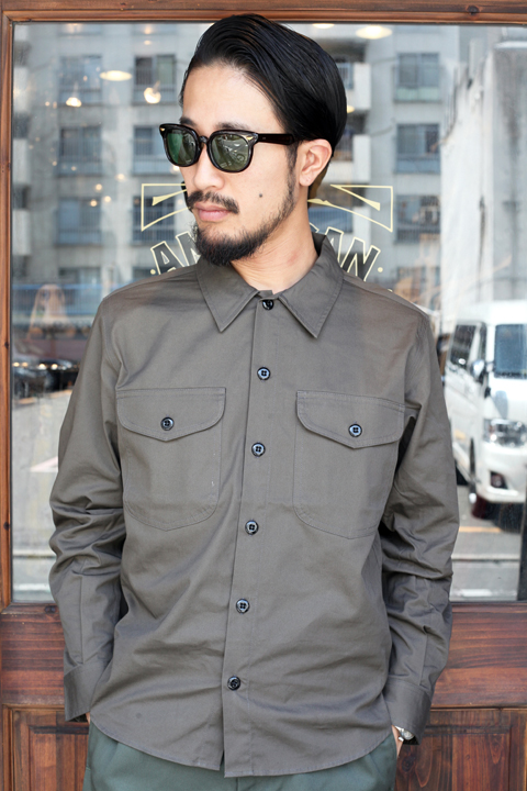 TROPHY CLOTHING/トロフィークロージング   「Gas Worker Shirt」  ワークシャツ