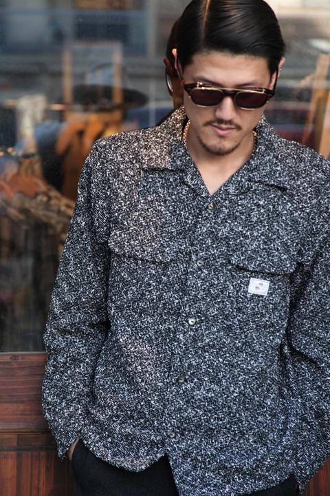 GANGSTERVILLE/ギャングスタービル   「TWO FACE - L/S SHIRTS」  ネップツィードシャツ