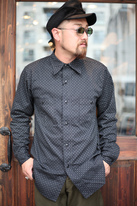 BLACK SIGN/ブラックサイン  「Glove Pattern Wabash Working Shirts」  ワバツシュワーキングシャツ