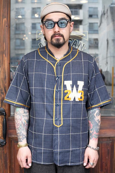 WEIRDO/ウィアード   「WEIRDO LEAGUE  - S/S SHIRTS」   ベースボールシャツ