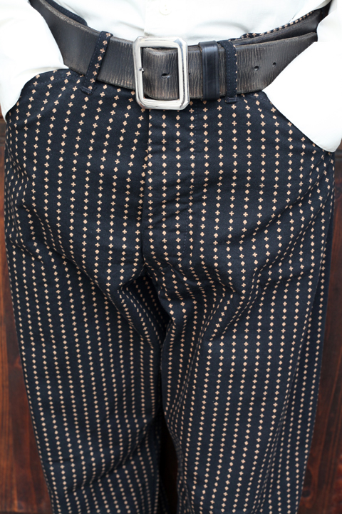 BLACK SIGN/ブラックサイン   「Playing Card Pattern 1930s Worker's Waist Overalls」  ワーカーズウエストオーバーオール