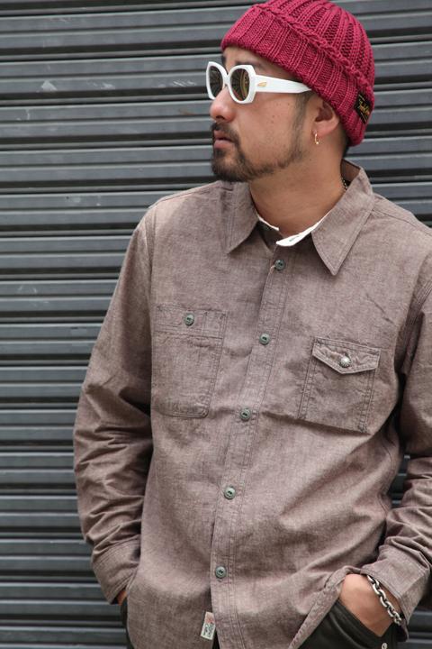 TROPHY CLOTHING/トロフィークロージング  「Machine Age Chambray Shirts」 シャンブレーシャツ