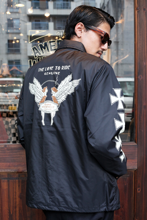 GANGSTERVILLE/ギャングスタービル  「LOVE TO RIDE - COACHES JACKET」 コーチジャケット