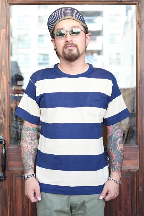 TROPHY CLOTHING/トロフィークロージング  「Wide Border S/S Tee」  ワイドボーダーティー