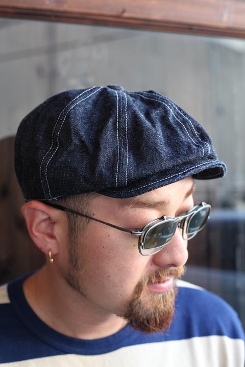 TROPHY CLOTHING/トロフィークロージング  「Dirt Denim Newsboy Cap」 ニュースボーイキャップ