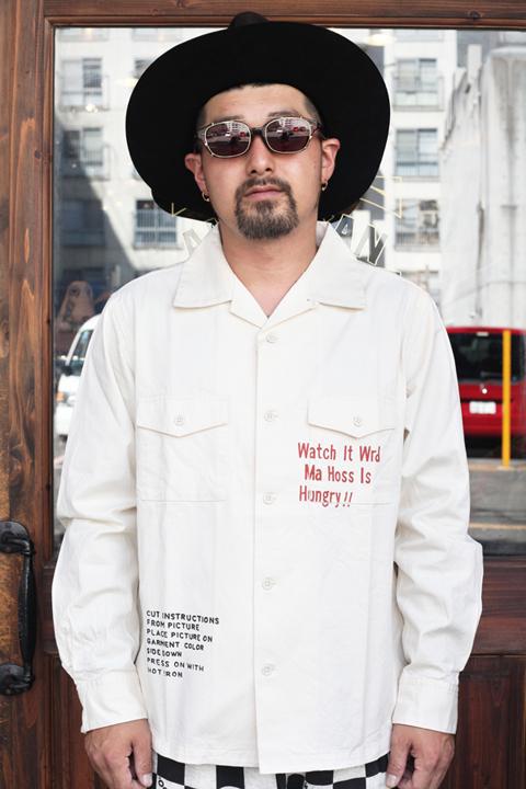 WEIRDO/ウィアード   「WEIRDOLIGHT RANCH - L/S SHIRTS」   コットンツイルシャツ