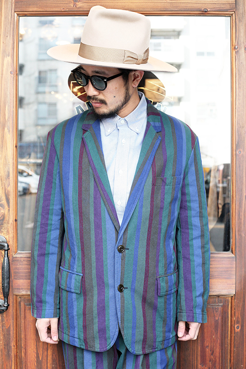 The Stylist Japan/ザスタイリストジャパン 「 MULTI STRIPE 2BS JK 」 マルチストライプジャケット