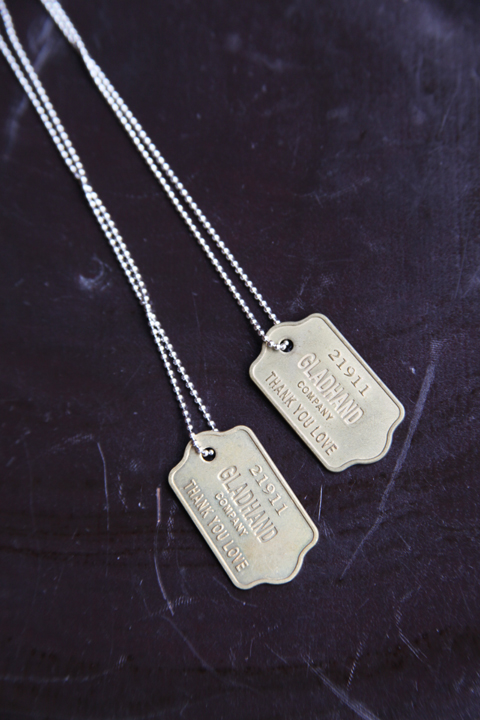 GLAD HAND/グラッドハンド   「GH TAG - NECKLACE」   真鍮製ネックレス