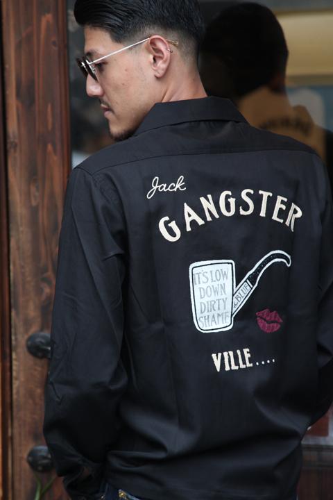 GANGSTERVILLE/ギャングスタービル   「THE BLUE - L/S SHIRTS」  テンセルツイルシャツ