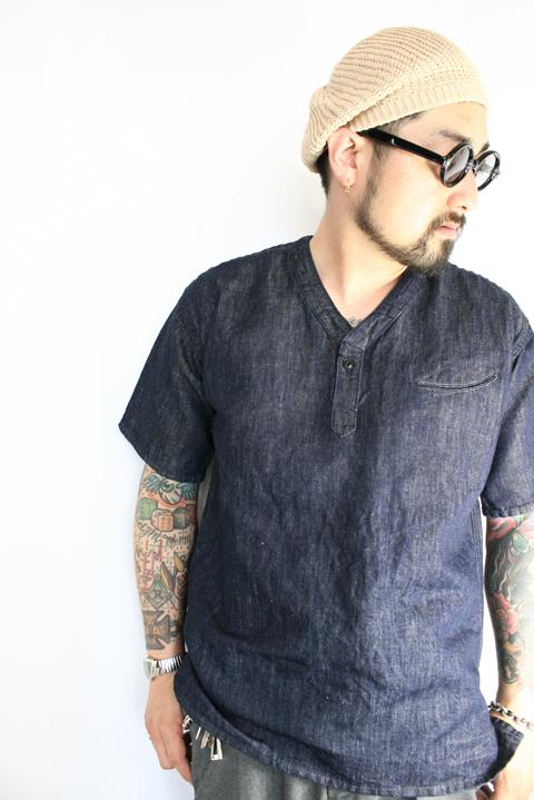 BLACK SIGN/ブラックサイン 「10oz Cotton Linen Denim Surgeon Shirt」  コットンリネンデニムサージャンシャツ
