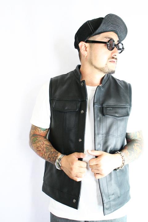 AMERICAN WANNABE/アメリカンワナビーオリジナル   「Fams Leather Vest」  レザーベスト