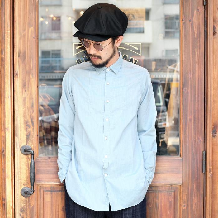 BLACK SIGN/ブラックサイン 「 Cool Chambray Fancy Bosom Century Shirt 」 クールシャンブレーファンシーボストムスシャツ