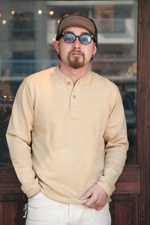 TROPHY CLOTHING/トロフィークロージング  「Naval Henley L/S」  ヘンリーロングTシャツ