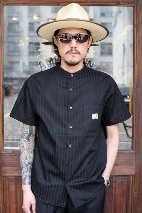 GANGSTERVILLE/ギャングスタービル   「SOCIAL LOUNGE- S/S SHIRTS」 スタンドカラーシャツ