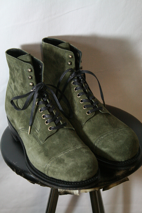 BLACK SIGN/ブラックサイン   「Army Last Suede Boots」   スエードブーツ