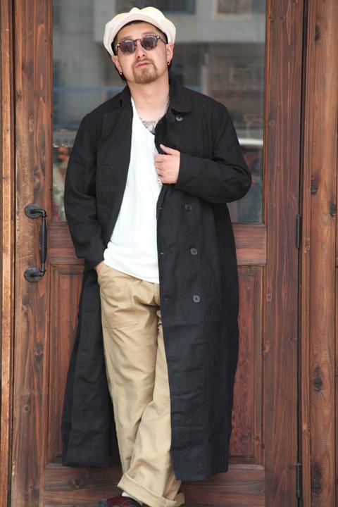 BLACK SIGN/ブラックサイン  「Black Linen Hit Man Coat」  ブラックリネンヒットマンコート