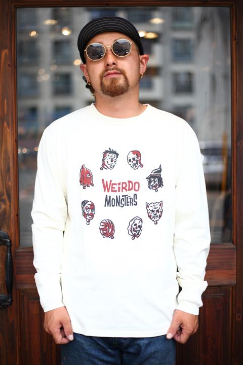 WEIRDO/ウィアード   「POP HEADS L/S T -SHIRTS」  プリント L/S TEE