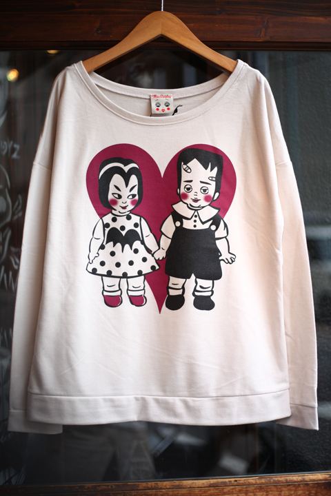 Miss Ladybug/ミスレディーバグ  「VAMPY & FRANKEY - L/S SWEAT」 プリントスウェット