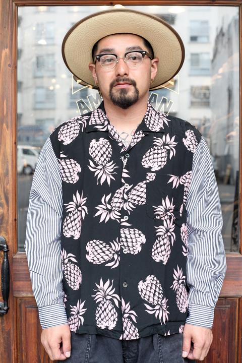 The Stylist Japan/ザスタイリストジャパン 「ALOHA STRIPE SHIRT」  アロハ柄×ストライプシャツ