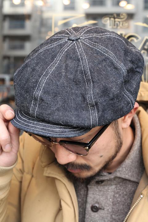 TROPHY CLOTHING/トロフィークロージング  「Dirt Denim Newsboy Cap」 ダートデニムニュースボーイキャップ