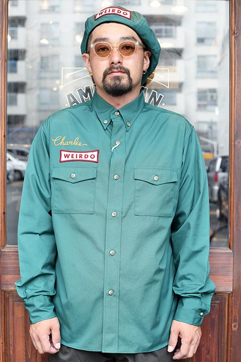 WEIRDO/ウィアード   「NON SKID - L/S WORK SHIRTS」   T/Cツイルワークシャツ