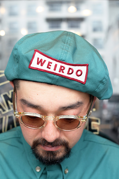 WEIRDO/ウィアード  「 NON SKID - CASQUETTE 」 T/Cツイルキャスケット