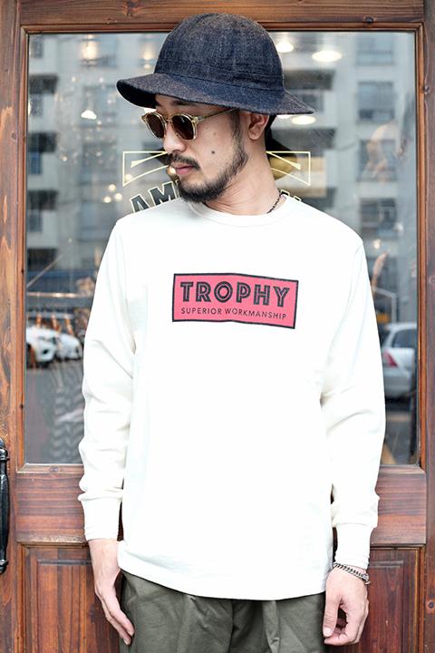 TROPHY CLOTHING/トロフィークロージング  「Superrior Logo OD L/S Tee」  天竺L/Sティー