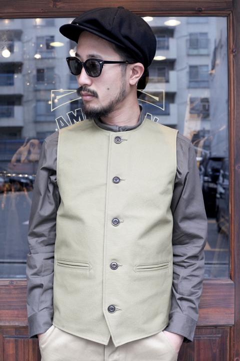 TROPHY CLOTHING/トロフィークロージング  「Oiled Duck Crew Neck Vest」 オイルドダックベスト