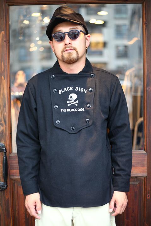 BLACK SIGN/ブラックサイン  「Modified Lt. Melton Herringbone Independent Shirts」  インディペンデントシャツ