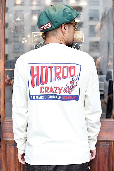 WEIRDO/ウィアード  「HOTROD CRAZY - L/S T-SHIRTS」  ヘンリーネックティーシャツ
