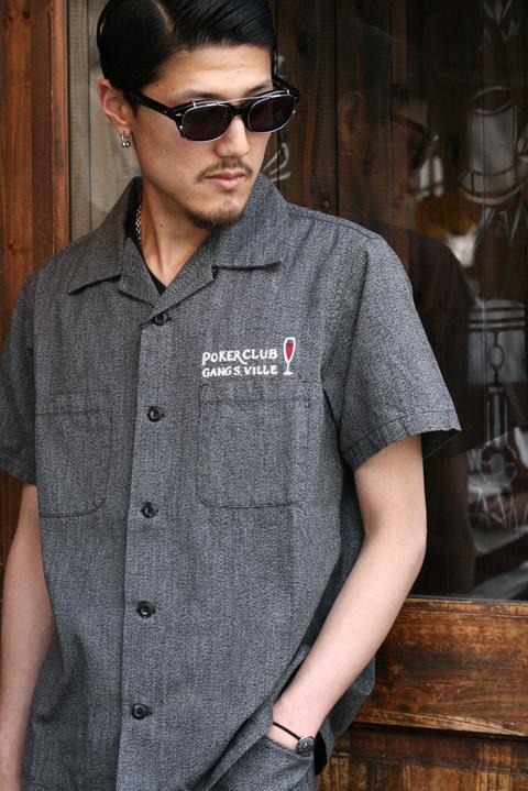 GANGSTERVILLE/ギャングスタービル   「JACKPOT - S/S SHIRTS」 ワークシャツ