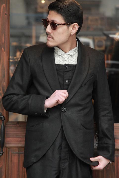 BLACK SIGN/ブラックサイン  「Linen Twill Evening Jacket」  リネンイヴニングジャケット