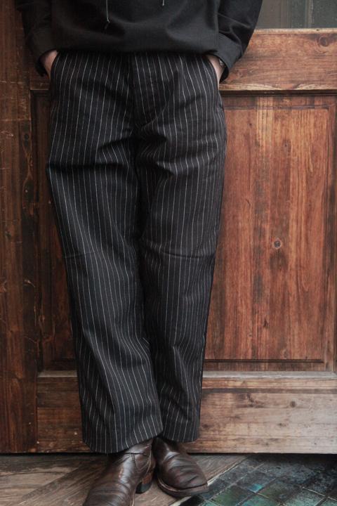 BLACK SIGN/ブラックサイン   「Pin Stripe Cotton Uolverine Trousers」  ピンストライプコットントラウザーズ