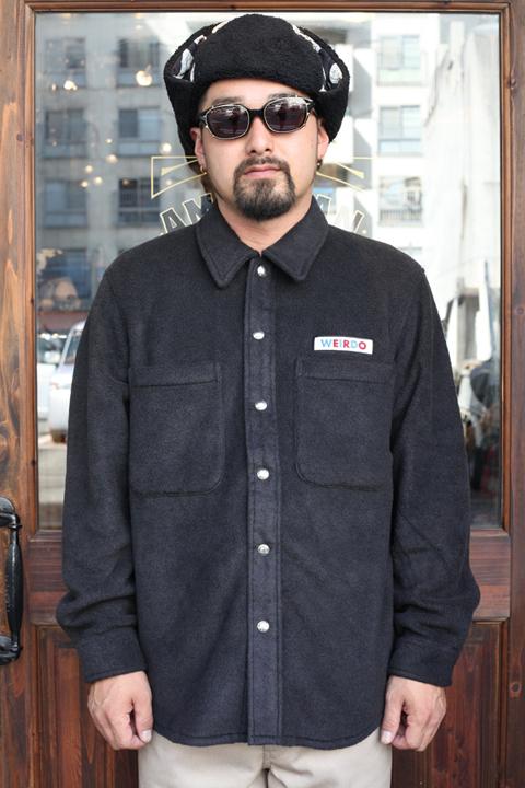 WEIRDO/ウィアード   「FLUFFY - FLEECE L/S SHIRTS」   フリースL/Sシャツ