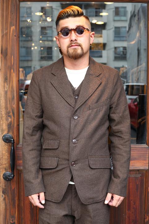 TROPHY CLOTHING/トロフィークロージング  「Brooklyn Wool Jacket」  ヘリンボーンウールジャケット