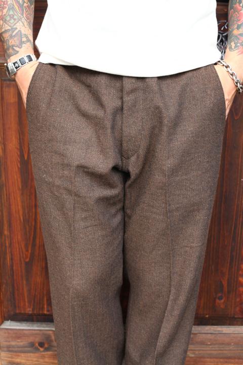 TROPHY CLOTHING/トロフィークロージング  「Brooklyn Wool Trousers」  ウールトラウザーズ