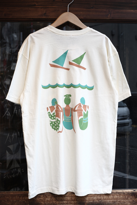 Miss Ladybug/ミスレディーバグ  「Swimmer Back print Front Pocket Tee ※unisex」  unisex Tシャツ